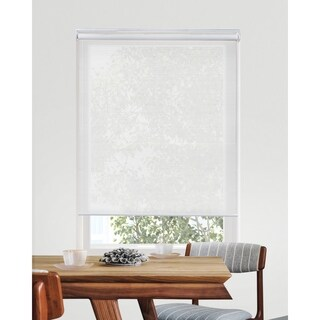 Chicology View-tiful White Snap-N'-Glide Cordless Solar Roller Shades