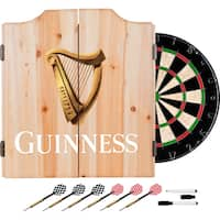 Guinness Dart Cabinet Set with Darts and Board - Harp