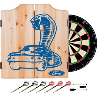 Ford Dart Cabinet Set with Darts and Board - Cobra