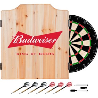 Budweiser Dart Cabinet Set with Darts and Board - Bow Tie