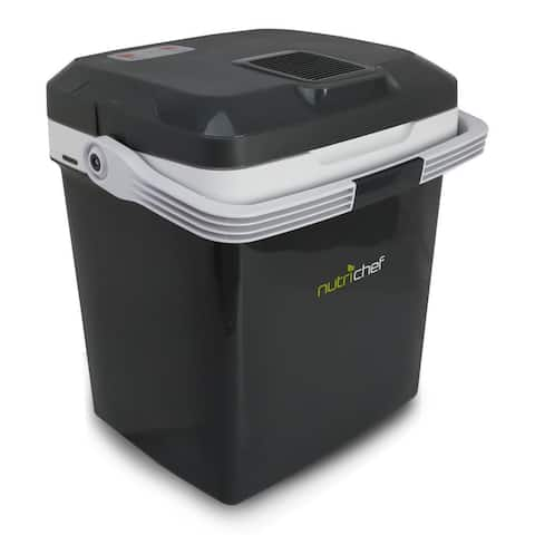 Pyle PKTCEC28SL Electric Cooler & Warmer Mini Fridge with Thermo Heating Ability 28 Liter