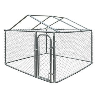 Link to ALEKO DIY Chain Link Box Dog Kennel Fence With Roof Frame Similar Items in Dog Containment
