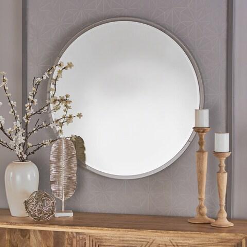 Attickus Circular Wall Mirror by Christopher Knight Home - Clear - N/A