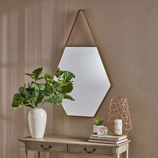 Penrose Water Drop Hexagonal Wall Mirror by Christopher Knight Home - Champagne