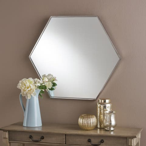 Edwin Hexagonal Wall Mirror by Christopher Knight Home - Clear