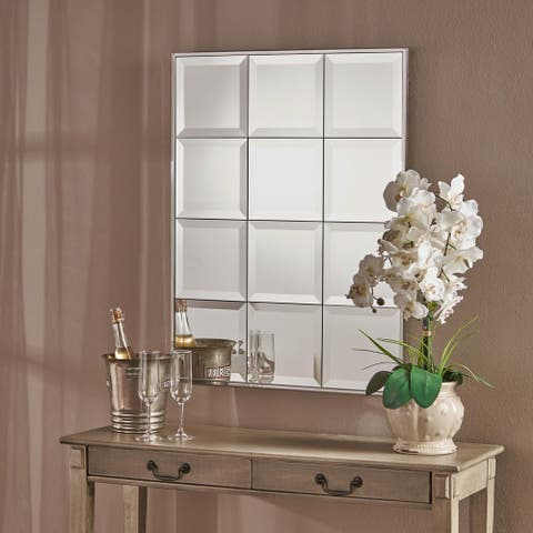 Benno Rectangular Tile-like Wall Mirror by Christopher Knight Home - Clear