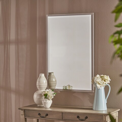 Raine Rectangular Wall Mirror by Christopher Knight Home - Clear - N/A