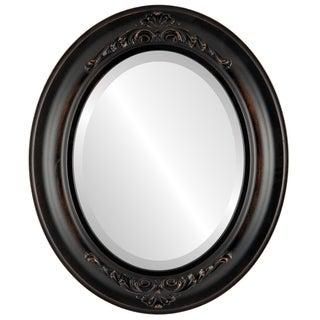 Winchester Rubbed Antique Bronze Wood Framed Oval Mirror