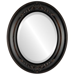 Winchester Framed Oval Mirror in Rubbed Bronze - Antique Bronze