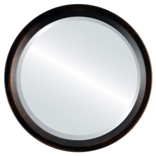 Huntington Antique Rubbed-bronze Framed Round Mirror