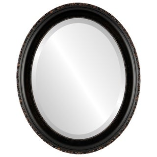 Kensington Framed Oval Mirror in Rubbed Bronze - Antique Bronze