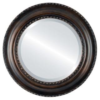 Somerset Framed Round Mirror in Rubbed Bronze - Antique Bronze