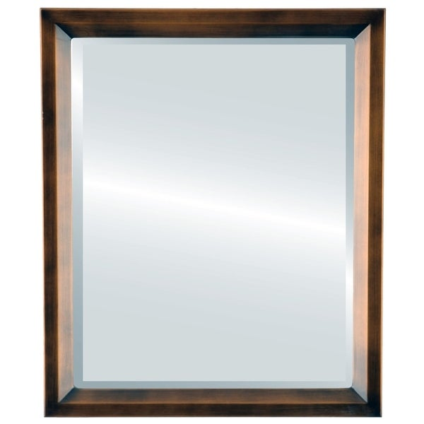 Huntington Framed Rectangle Mirror in Rubbed Bronze - Antique Bronze
