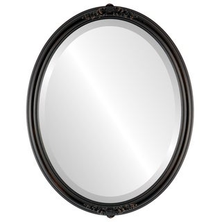 Contessa Framed Oval Mirror in Rubbed Bronze - Antique Bronze