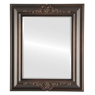 Winchester Framed Rectangle Mirror in Rubbed Bronze - Antique Bronze