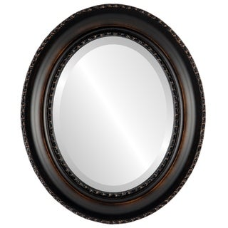Somerset Framed Oval Mirror in Rubbed Bronze - Antique Bronze