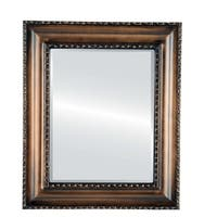 Somerset Framed Rectangle Mirror in Rubbed Bronze - Antique Bronze
