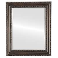 Dorset Framed Round Mirror in Rubbed Bronze - Antique Bronze
