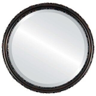 Virginia Framed Antique Bronze Round Mirror