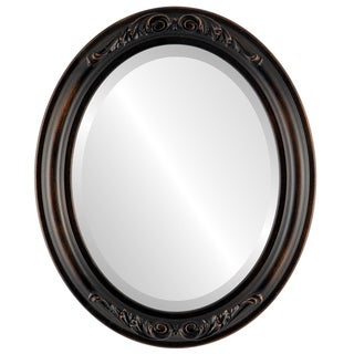 Florence Framed Oval Mirror in Rubbed Bronze - Antique Bronze