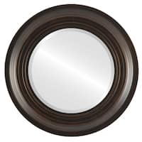 Imperial Antique Rubbed Bronze Framed Round Wall Mirror