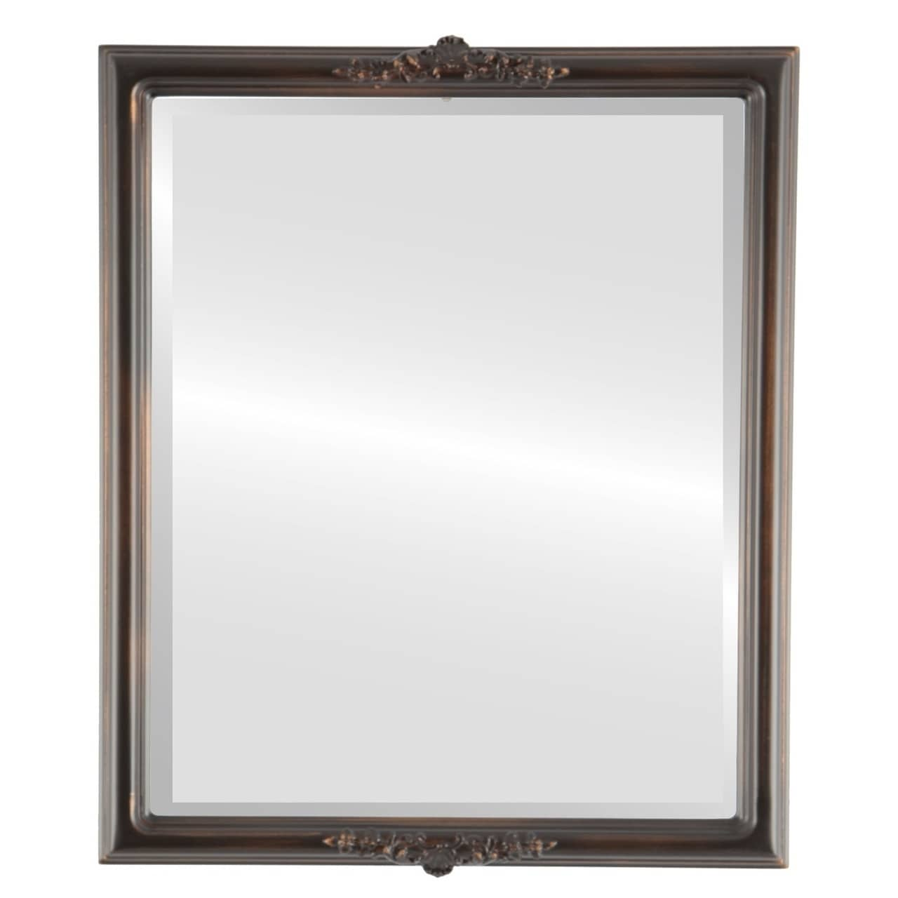 Contessa Framed Rectangle Mirror in Rubbed Bronze - Antique Bronze (13x17)