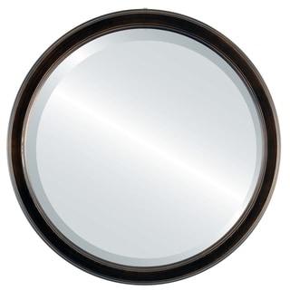Toronto Framed Antique Bronze Round Mirror