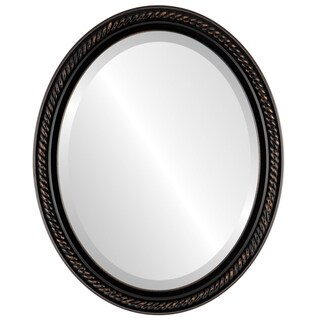 Santa Fe Framed Oval Mirror in Rubbed Bronze - Antique Bronze (More options available)