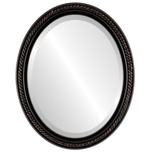 Santa Fe Framed Oval Mirror in Rubbed Bronze Antique Bronze Free