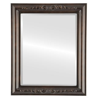 Florence Framed Rectangle Mirror in Rubbed Bronze - Antique Bronze