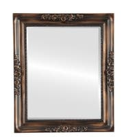 Versailles Framed Rectangle Mirror in Rubbed Bronze - Antique Bronze