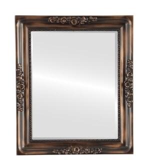Versailles Framed Rectangle Mirror in Rubbed Bronze - Antique Bronze