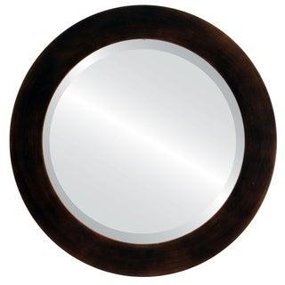 Soho Rubbed Antique Bronze Framed Round Mirror