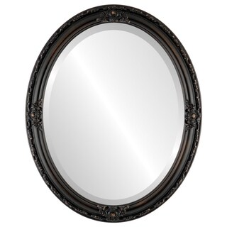 Jefferson Framed Oval Mirror in Rubbed Bronze - Antique Bronze (More options available)