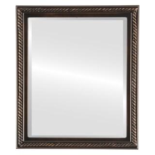 Santa Fe Framed Rectangle Mirror in Rubbed Bronze - Antique Bronze