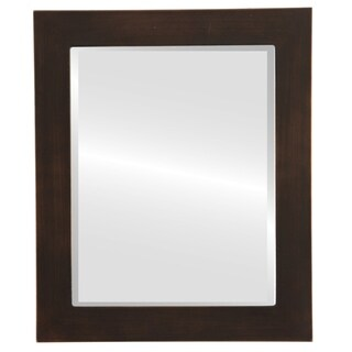 Soho Framed Rectangle Mirror in Rubbed Bronze - Antique Bronze