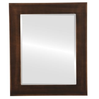 Avenue Framed Rectangle Mirror in Rubbed Bronze - Antique Bronze