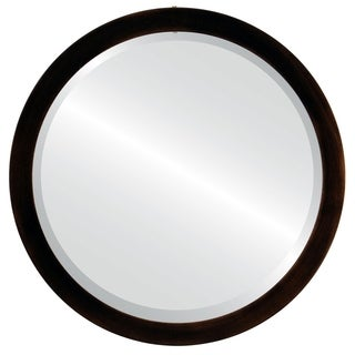 Manhattan Framed Antique Bronze Round Mirror