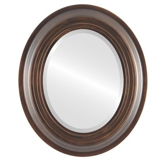 Imperial Antique Bronze Wood-framed Oval Wall Mirror (More options available)