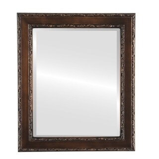 Monticello Framed Rectangle Mirror in Rubbed Bronze - Antique Bronze