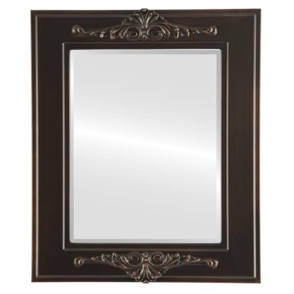 Ramino Framed Rectangle Mirror in Rubbed Bronze - Antique Bronze