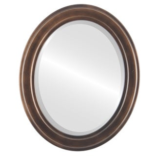 Wright Rubbed Antique Bronze Wood Framed Oval Mirror