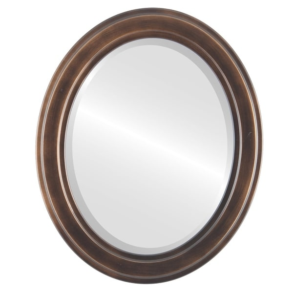 Wright Framed Oval Mirror in Rubbed Bronze - Antique Bronze