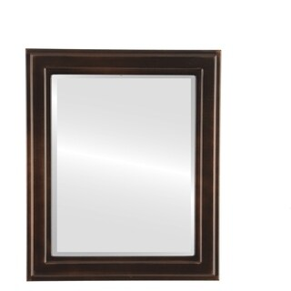 Wright Framed Rectangle Mirror in Rubbed Bronze - Antique Bronze