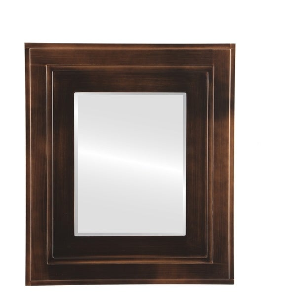 Shop Palomar Framed Rectangle Mirror In Rubbed Bronze