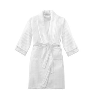 Softesse Unisex Terry Stripe Velour Shawl Bath Robe