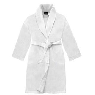 Carefree Comforts Unisex Honeycomb Shawl Bath Robe