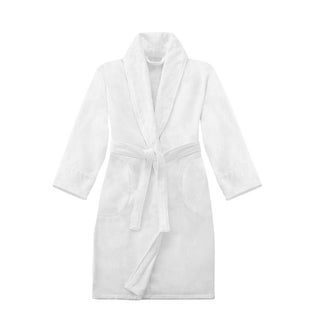 Crowning Touch by Welspun Unisex Terry Velour Shawl Bath Robe