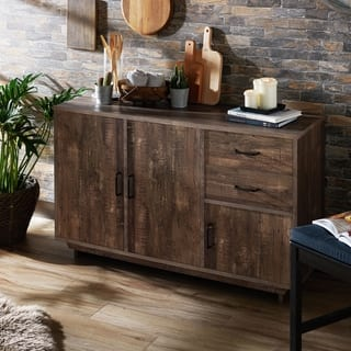 Rustic buffets sideboards china cabinets for less overstock furniture of america mailer brown reclaimed oak 47 inch dining server watchthetrailerfo