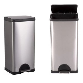 10 Gallon/ 38L Step Stainless-Steel Trash Can Kitchen S38